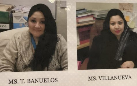 Ms. Banuelos and Ms. Villanueva hard at work at Manual Arts H.S.