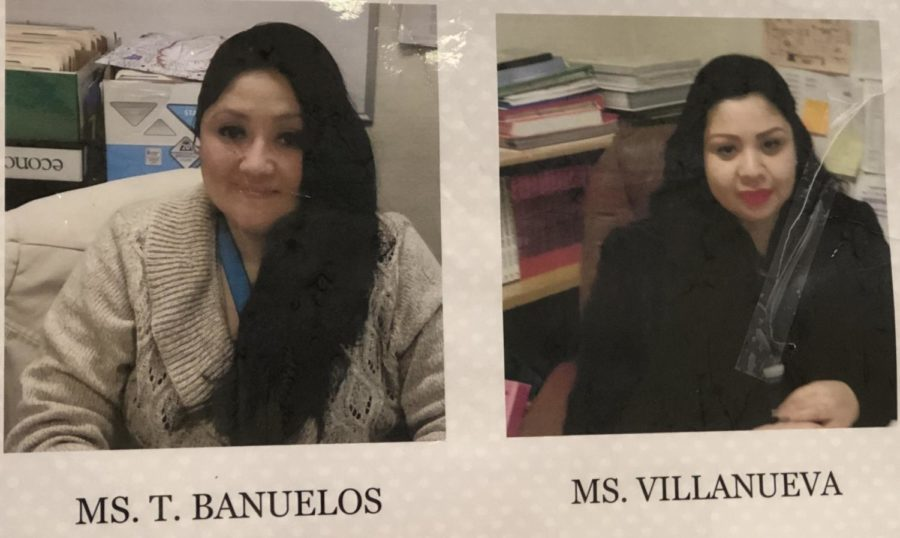 Ms.+Banuelos+and+Ms.+Villanueva+hard+at+work+at+Manual+Arts+H.S.