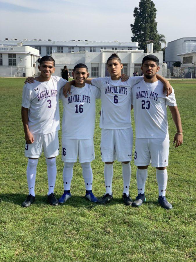 Joshua Alvarado, Kevin Cisneros, Adin Barrientos, and Alexander Guevara Pose