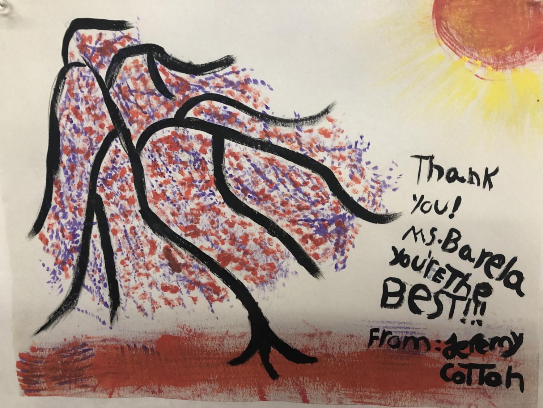 Jeremy Cotton expresses his gratitude through art!