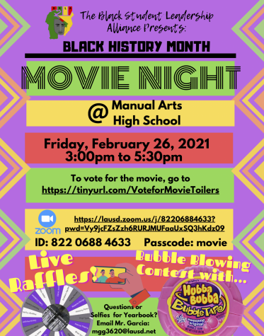 BHM Movie Night on Friday 2/26!!