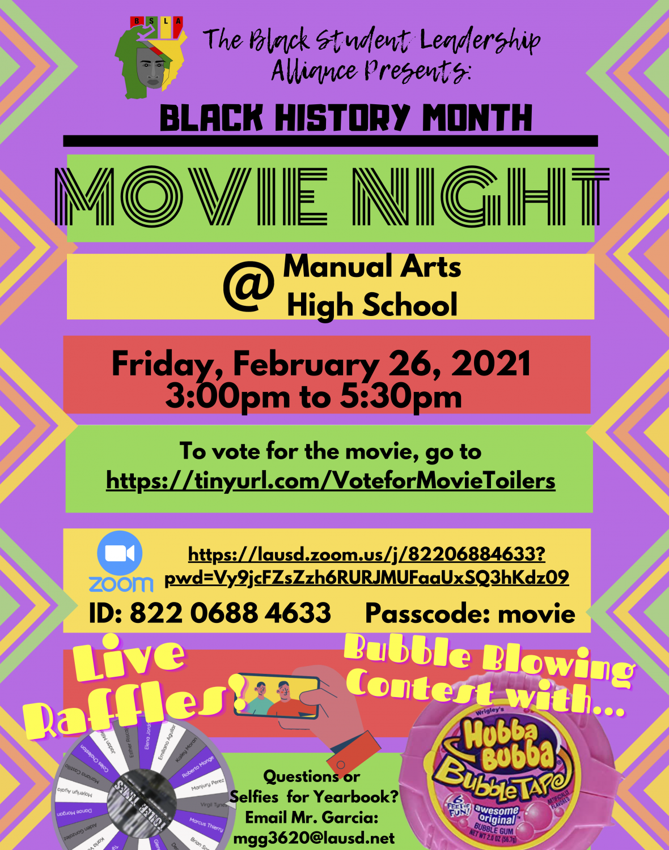 BHM Movie Night on Friday 2/26!!